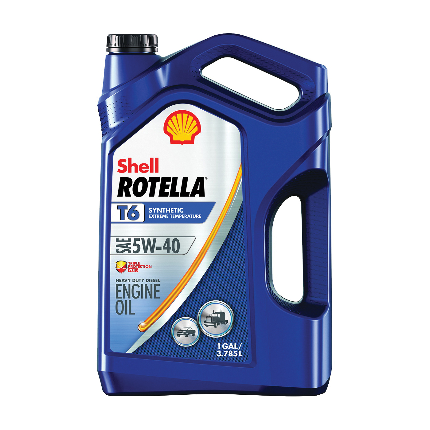 Picture of Shell Rotella T6 Series 550045347 Diesel Oil, 5W-40, 1 gal Package, Jug