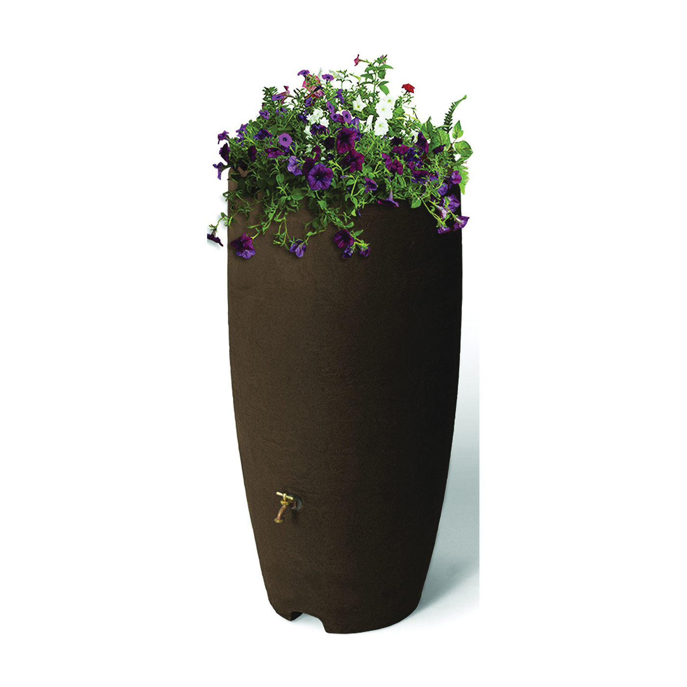 Picture of Algreen 86311 Rain Barrel, 80 gal Capacity, Brass, Brownstone