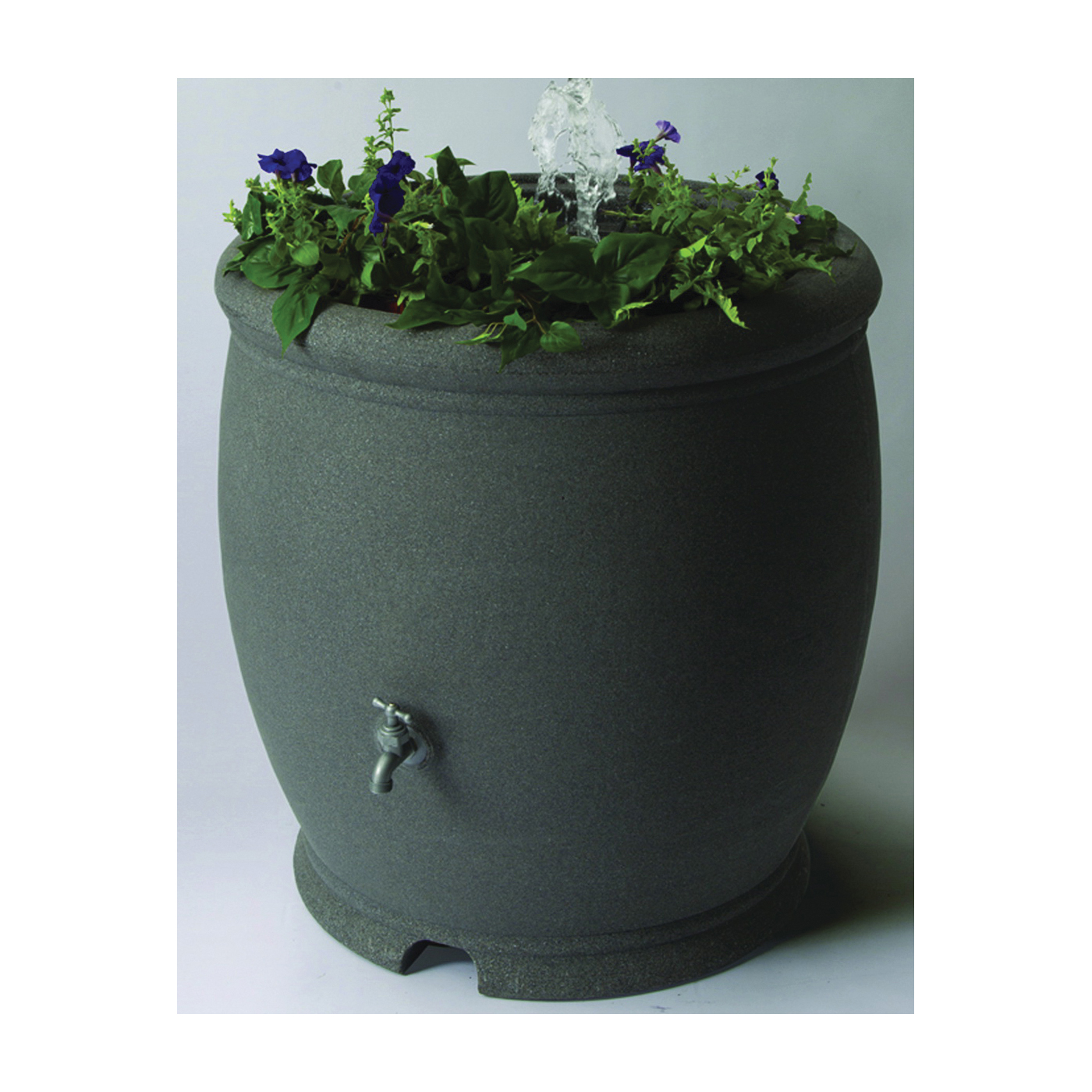 Picture of Algreen 85301 Rain Barrel, 100 gal Capacity, Brass, Charcoal