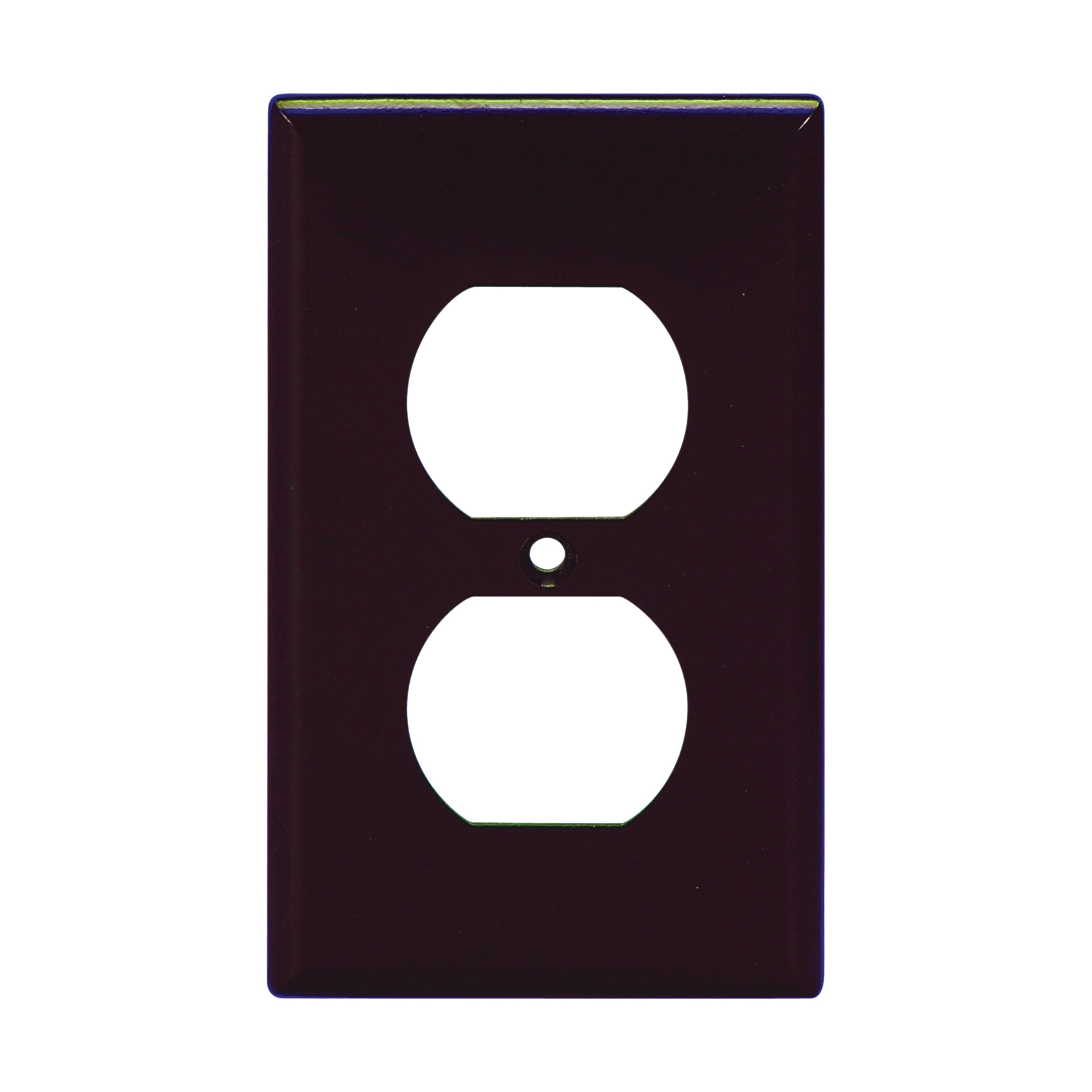 Picture of Arrow Hart 2132B-BOX Duplex Receptacle, Standard Wallplate, 1-Gang, Thermoset, Brown