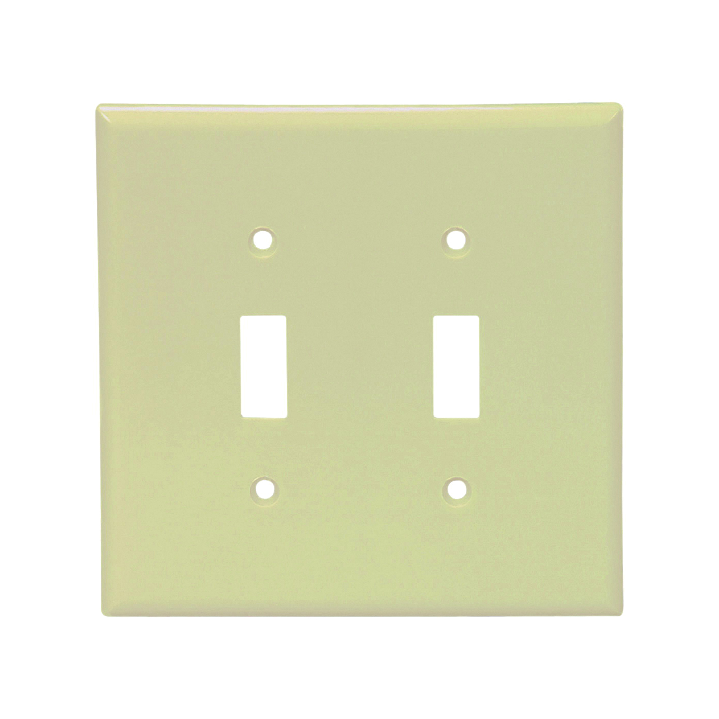 Picture of Arrow Hart 2139V-BOX Wallplate, 4-1/2 in L, 4-9/16 in W, 2-Gang, Thermoset, Ivory, High-Gloss