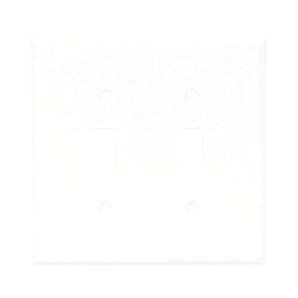 Picture of Arrow Hart 2139W-BOX Standard-Size Wallplate, 2-Gang, Thermoset, White