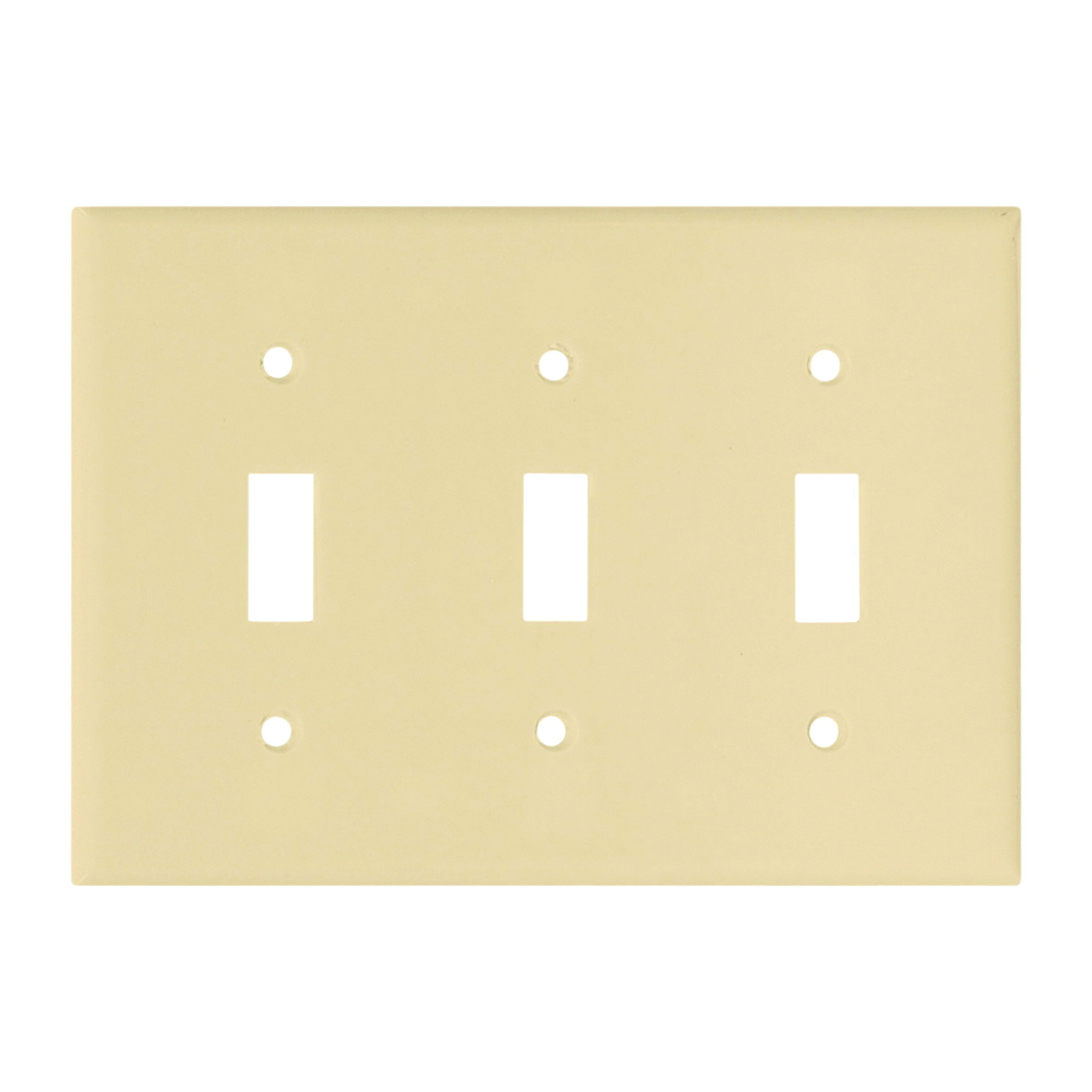 Picture of Arrow Hart 2141V-BOX Wallplate, 4-1/2 in L, 6.37 in W, 3-Gang, Thermoset, Ivory, High-Gloss