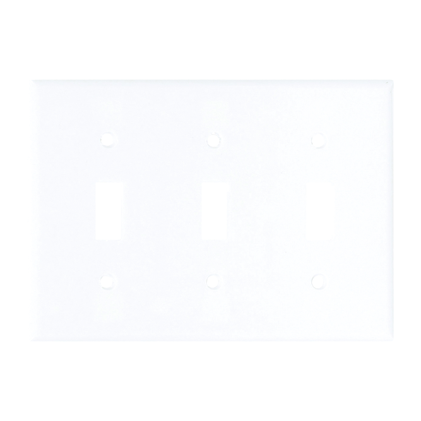 Picture of Arrow Hart 2141W-BOX Wallplate, 4-1/2 in L, 6.37 in W, 3-Gang, Thermoset, White, High-Gloss