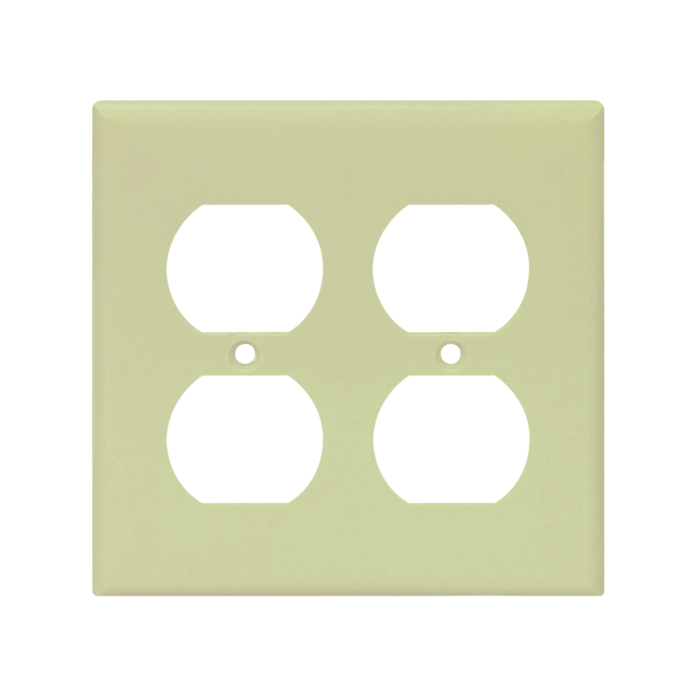 Picture of Arrow Hart 2150V-BOX Wallplate, 4-1/2 in L, 4.56 in W, 2-Gang, Thermoset, Ivory, High-Gloss, Box Mounting