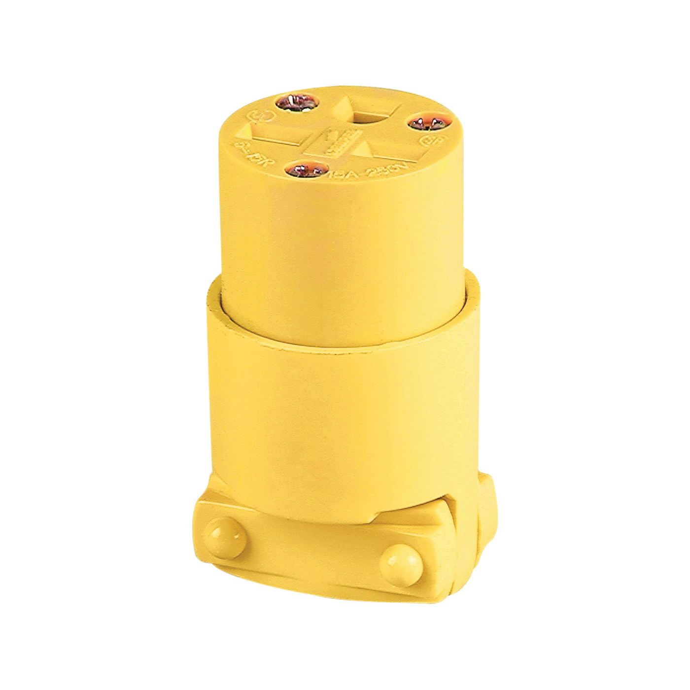 Picture of Eaton Cooper Wiring 4227-BOX Electrical Connector, 2-Pole, 15 A, 250 V, NEMA: 6-15, Yellow