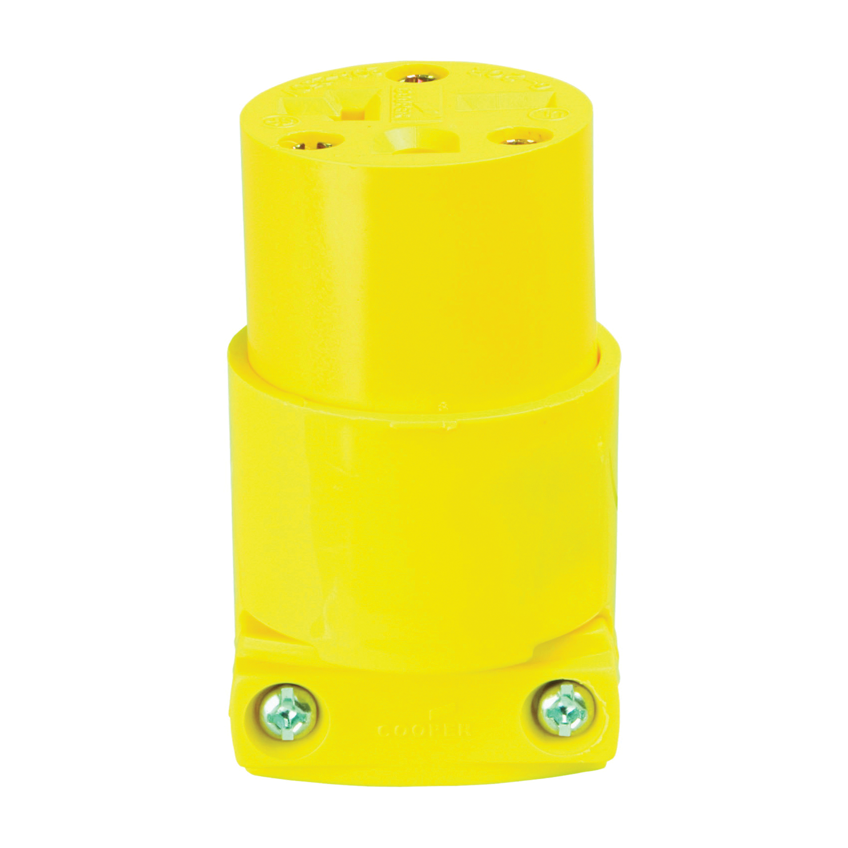 Picture of Eaton Cooper Wiring 4229-BOX Electrical Connector, 2-Pole, 20 A, 250 V, NEMA: 6-20, Yellow