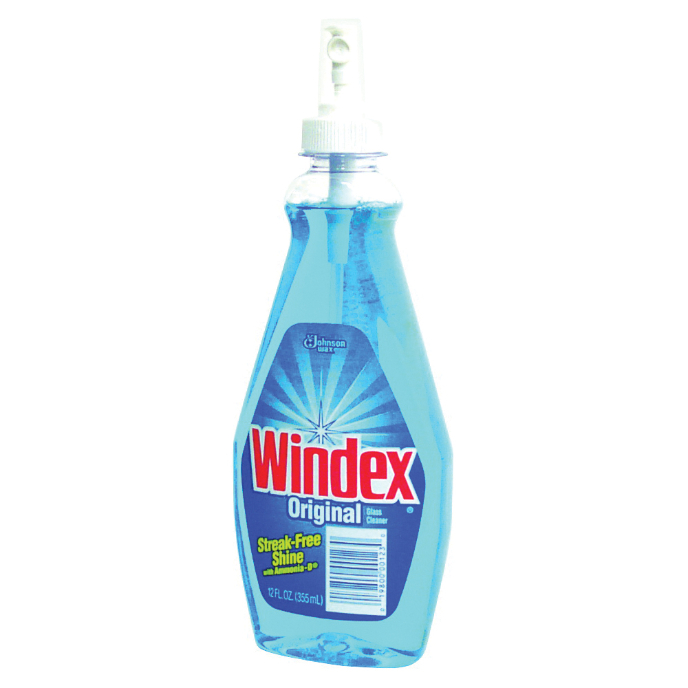Picture of Windex 00123 Glass Cleaner, 12 oz Package, Bottle, Liquid, Floral, Blue