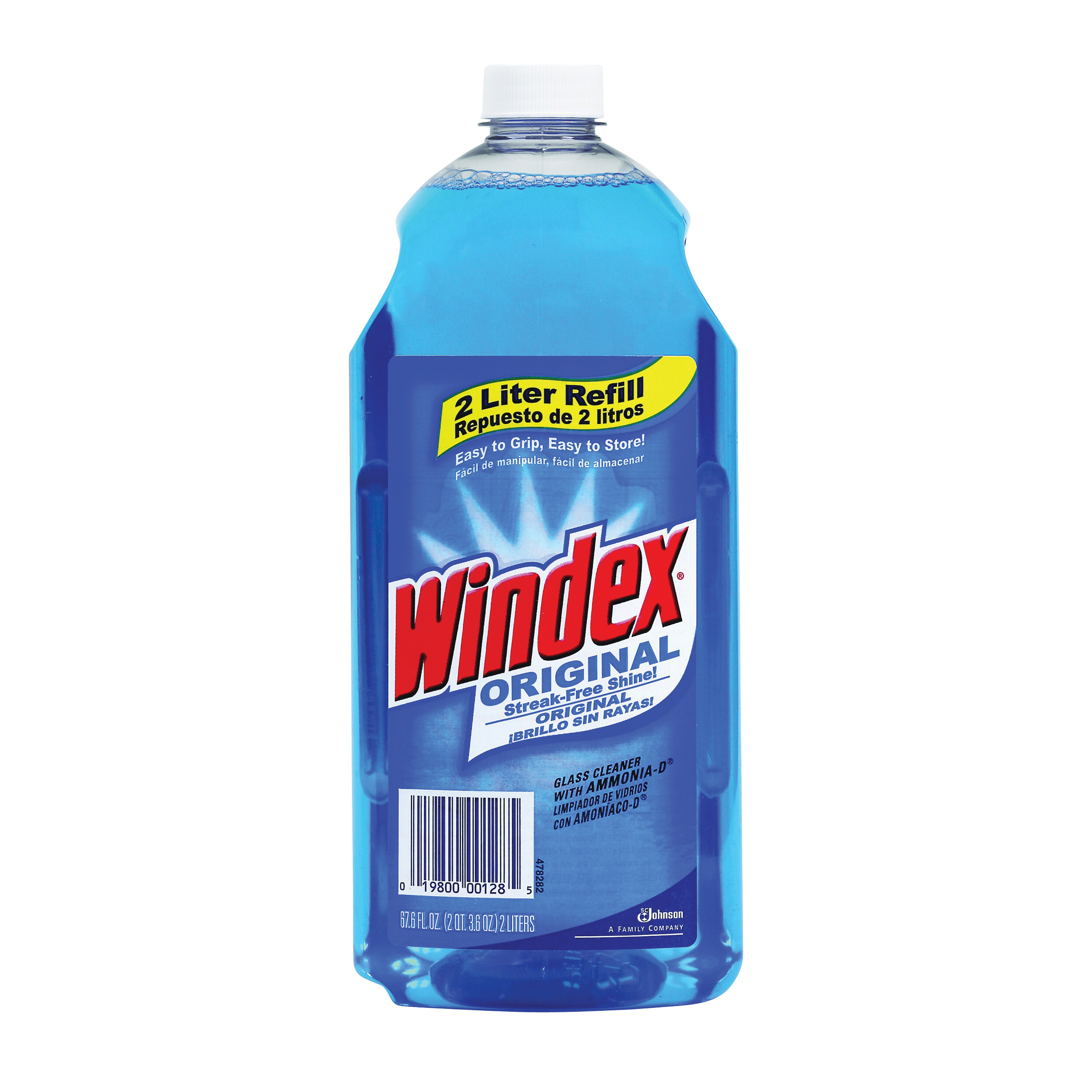 Picture of Windex 00128 Glass Cleaner, 2 L Package, Bottle, Liquid, Floral, Blue