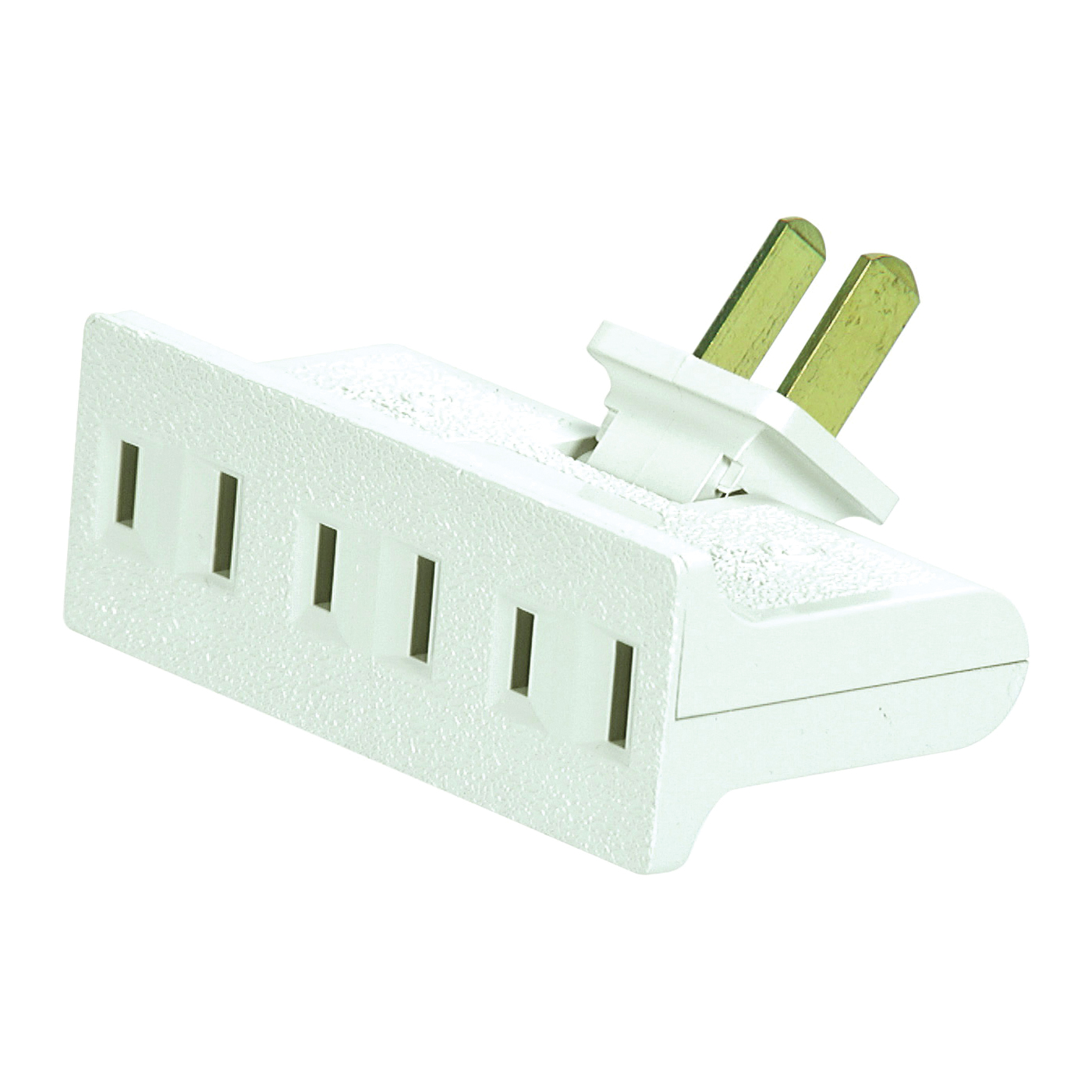Picture of Eaton Cooper Wiring BP1792W-SP Non-Grounded Outlet Tap, 15 A, 2-Pole, 3-Outlet, White