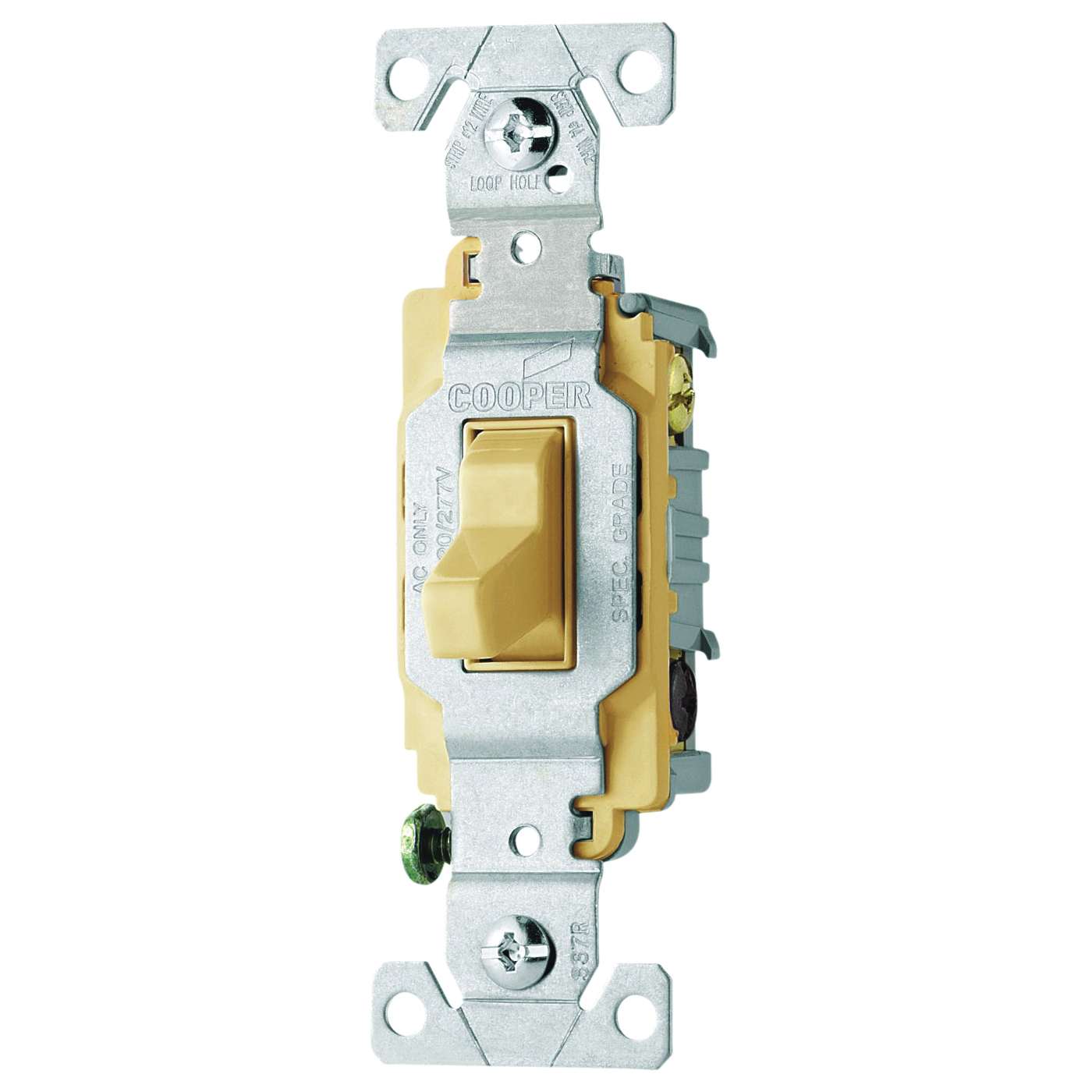 Picture of Arrow Hart CS315V Switch, 15 A, 120/277 V, 3-Way, Screw Terminal, PVC Housing Material, Ivory