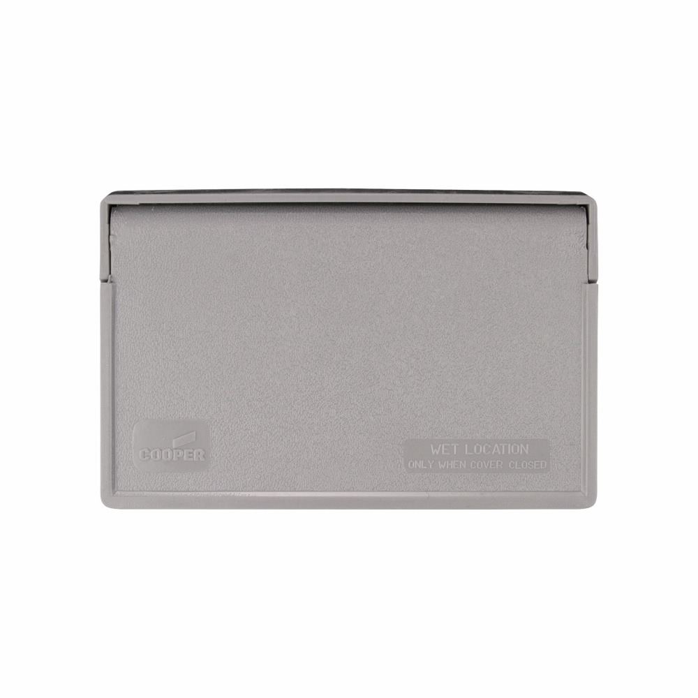 Picture of Eaton Cooper Wiring S3966 Cover, 7 in L, 4-1/2 in W, Rectangular, Thermoplastic, Gray, Electro-Plated