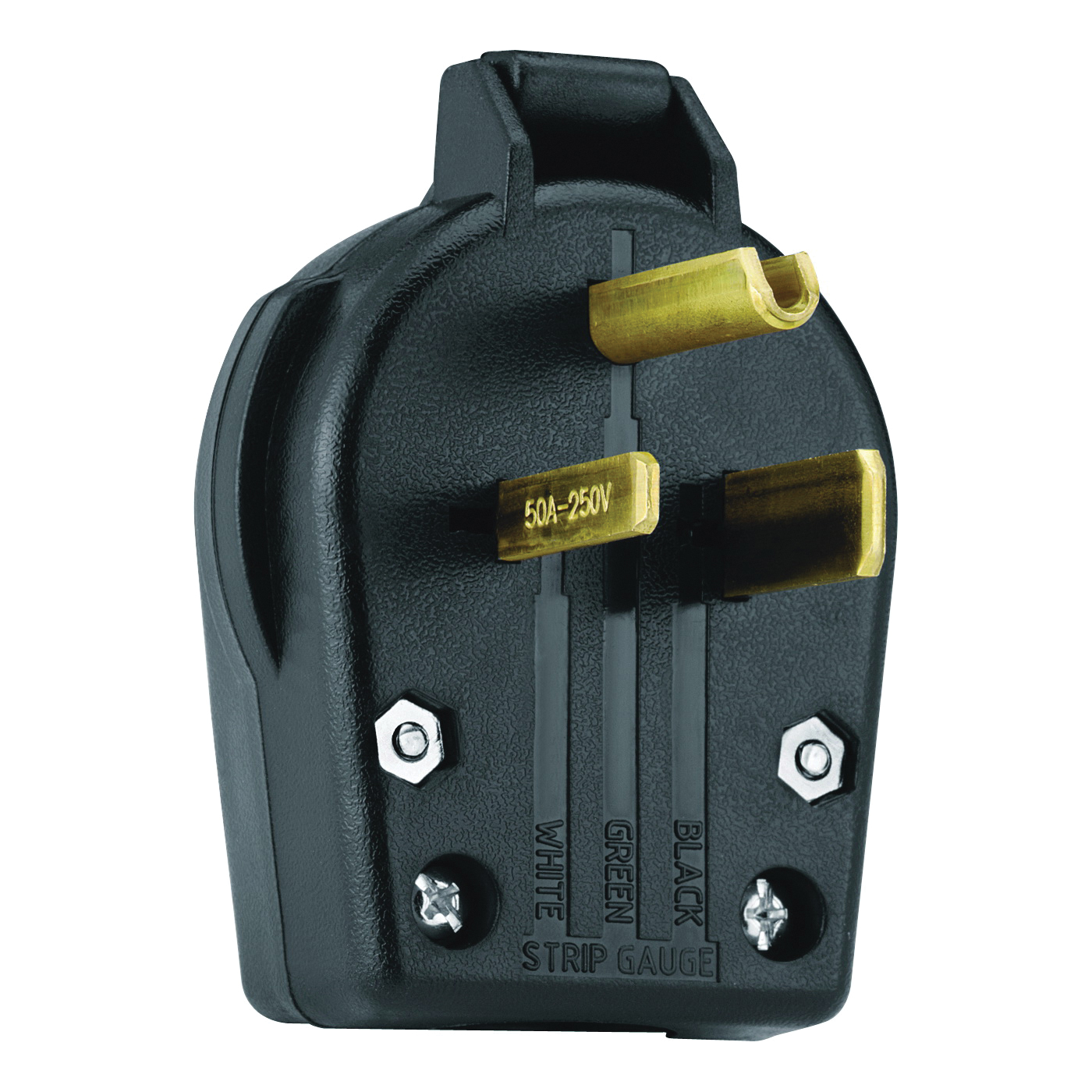 Picture of Eaton Cooper Wiring S42-SP Electrical Plug, 2-Pole, 30 A, 250 V, NEMA: 6-30P, 6-50P, Black