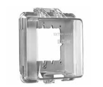 Picture of Eaton Cooper Wiring WIU-2 Cover, 6-1/2 L, 5-3/4 in W, Rectangular, Polycarbonate, Gray