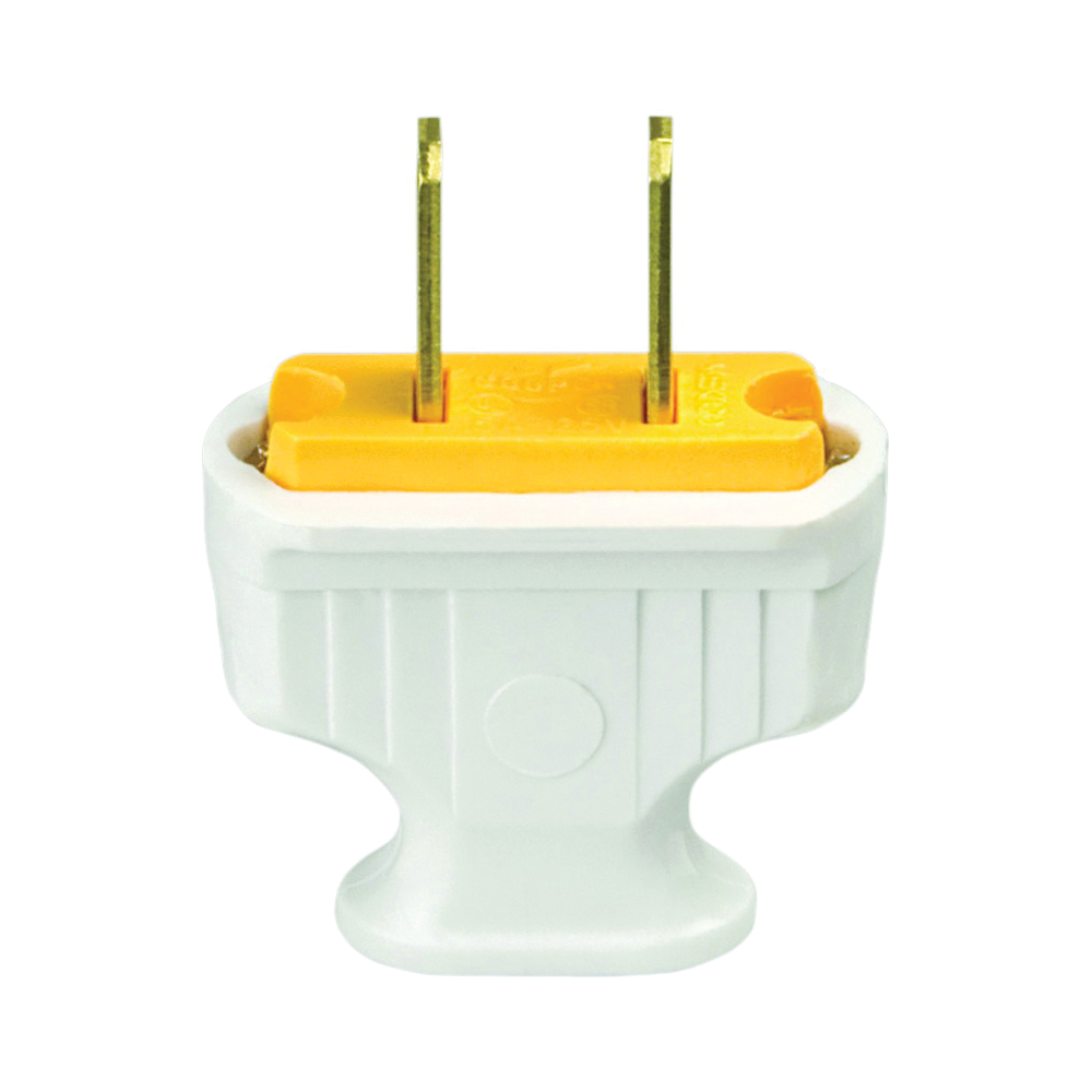 Picture of Eaton Cooper Wiring 1912W-BOX Electrical Plug, 2-Pole, 15 A, 125 V, NEMA: 1-15, White