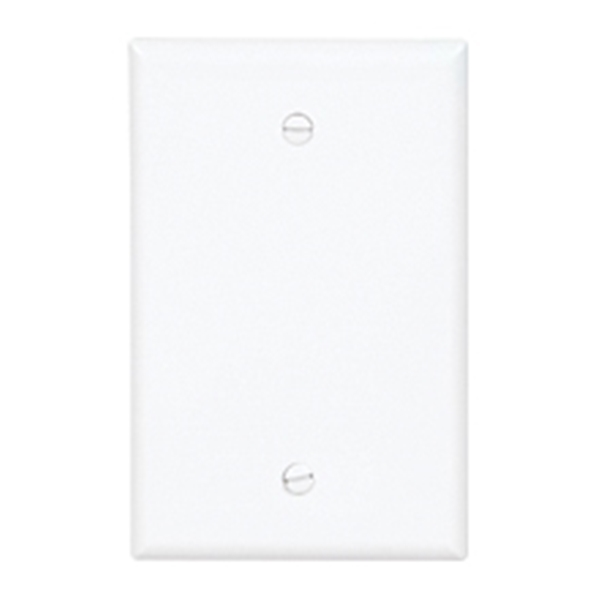 Picture of EATON PJ13W Wallplate, 0.08 in Thick, 1-Gang, Polycarbonate, White, Box Mounting