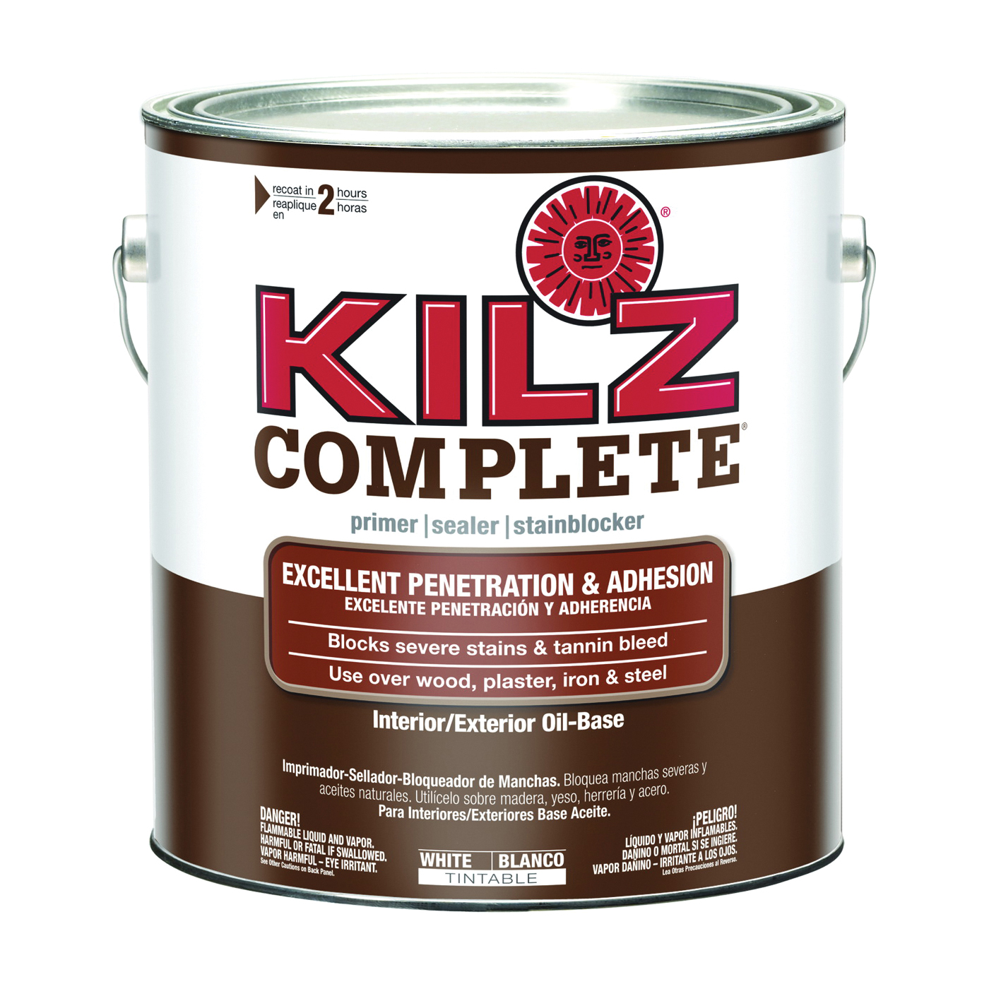 Picture of Kilz L101211 Sealer and Primer, White, 5 gal, Can