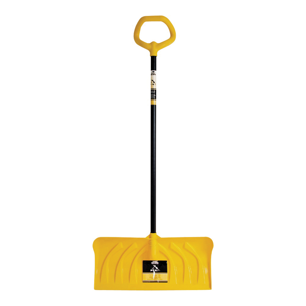 Picture of TRUE TEMPER 1635000 Snow Pusher, 24 in W Blade, Poly Blade, Steel Handle