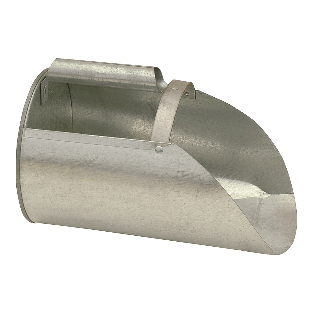Picture of BROWER F4 Feed Scoop, 3.5 lb Capacity, Steel, Galvanized, 11-1/4 in L