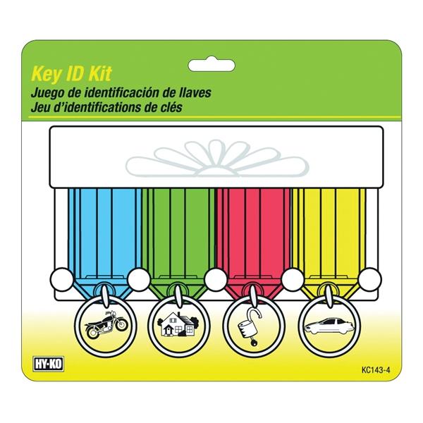 Picture of HY-KO KC143-4 Key Identification Tag Kit, Plastic
