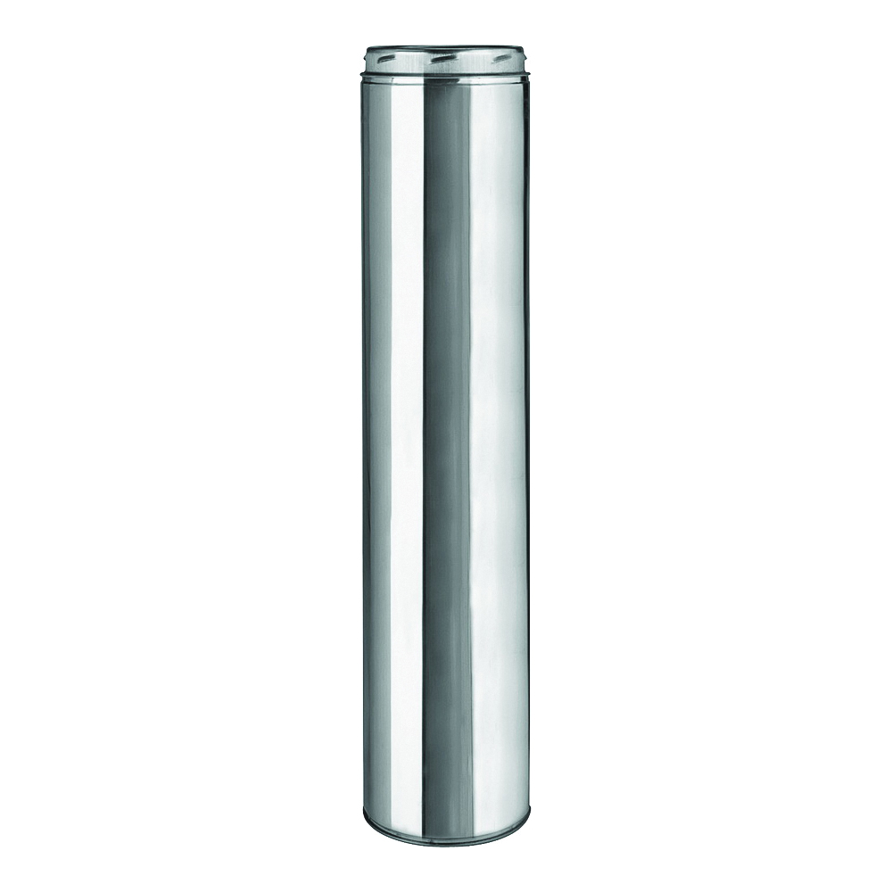 Picture of SELKIRK 208148 Chimney Pipe, 10 in OD, 48 in L, Stainless Steel