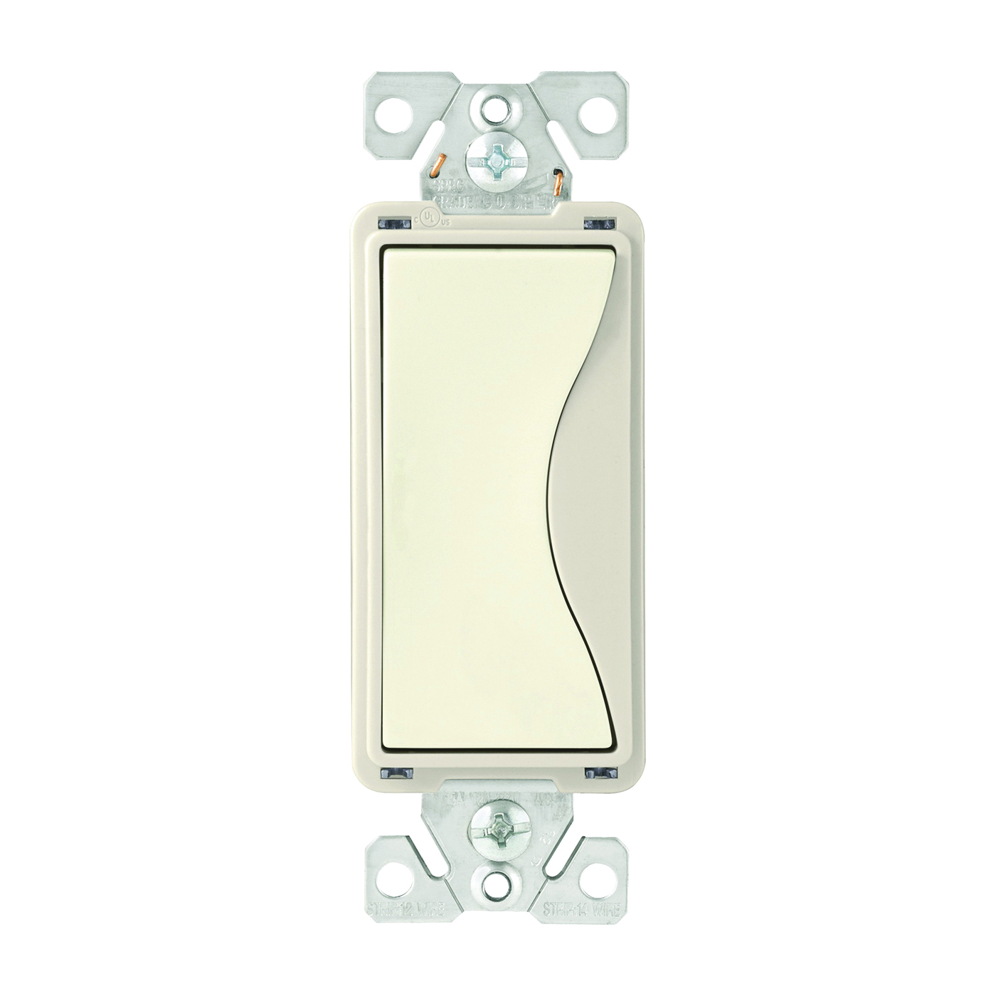 Picture of Eaton Wiring Devices ASPIRE 9504DS Rocker Switch, 15 A, 120/277 V, 4-Way, Push-In Terminal, Desert Sand