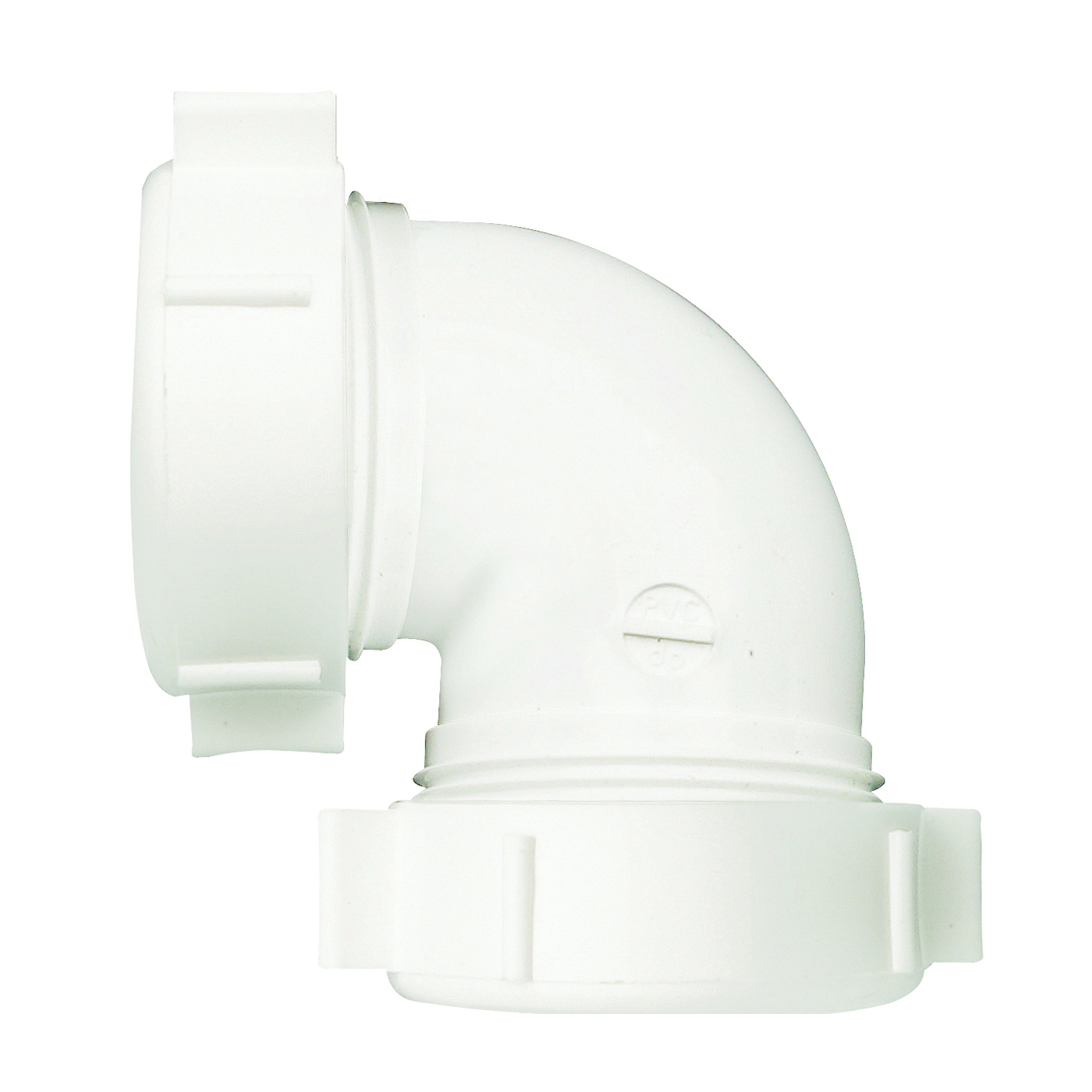 Picture of Plumb Pak PP55-5W Drain Pipe Elbow, 1-1/2 in Slip Joint, 1-1/2 in Slip Joint, White