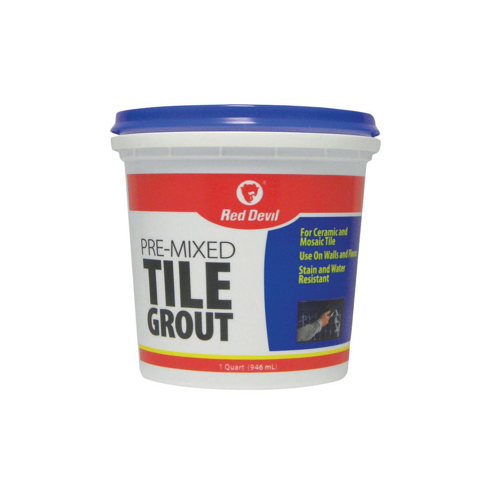 Picture of Red Devil 0424 Tile Grout, Paste, Ammonia, Mild Acrylic, White, 1 qt Package, Tub
