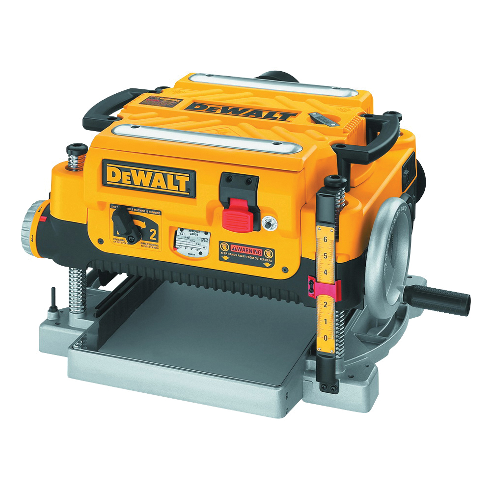 Picture of DeWALT DW735 Thickness Planer with Three Cutter, 120 V, 15 A, 2 hp, 13 in W Planning, 1/8 in D Planning