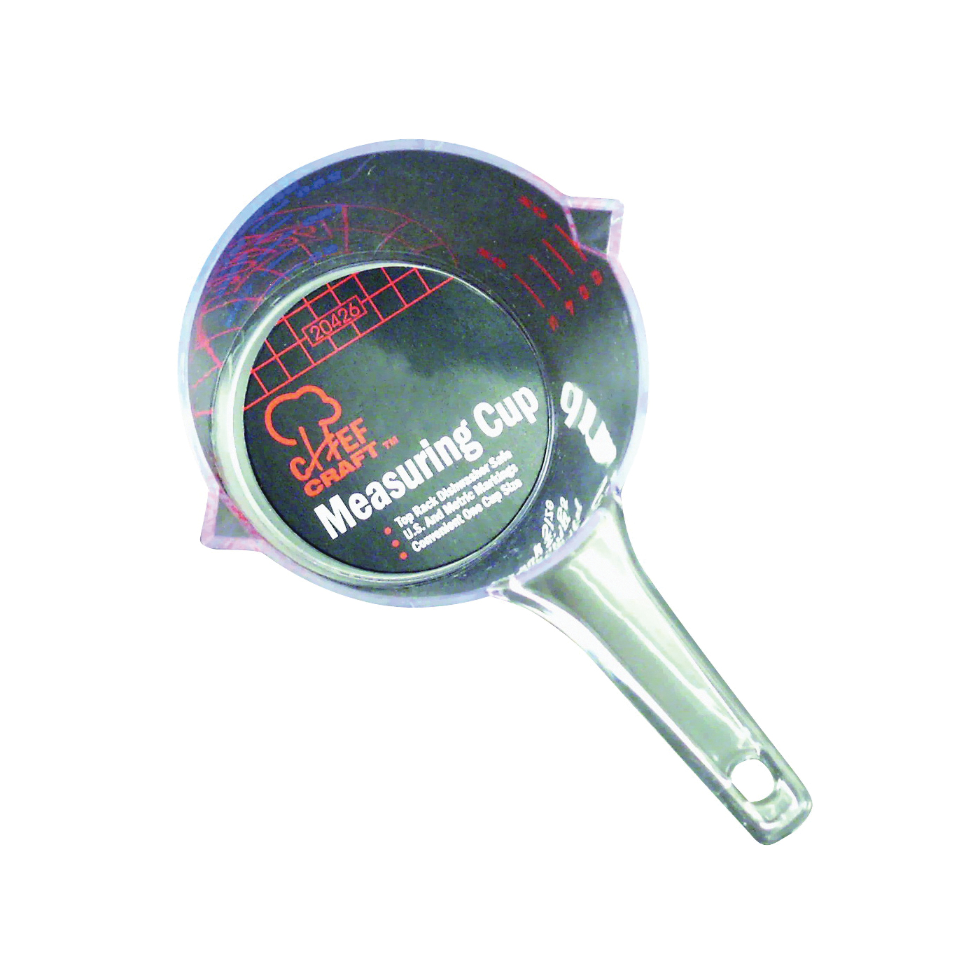 Picture of CHEF CRAFT 20426 Measuring Cup, Metric Graduation, Plastic, Clear