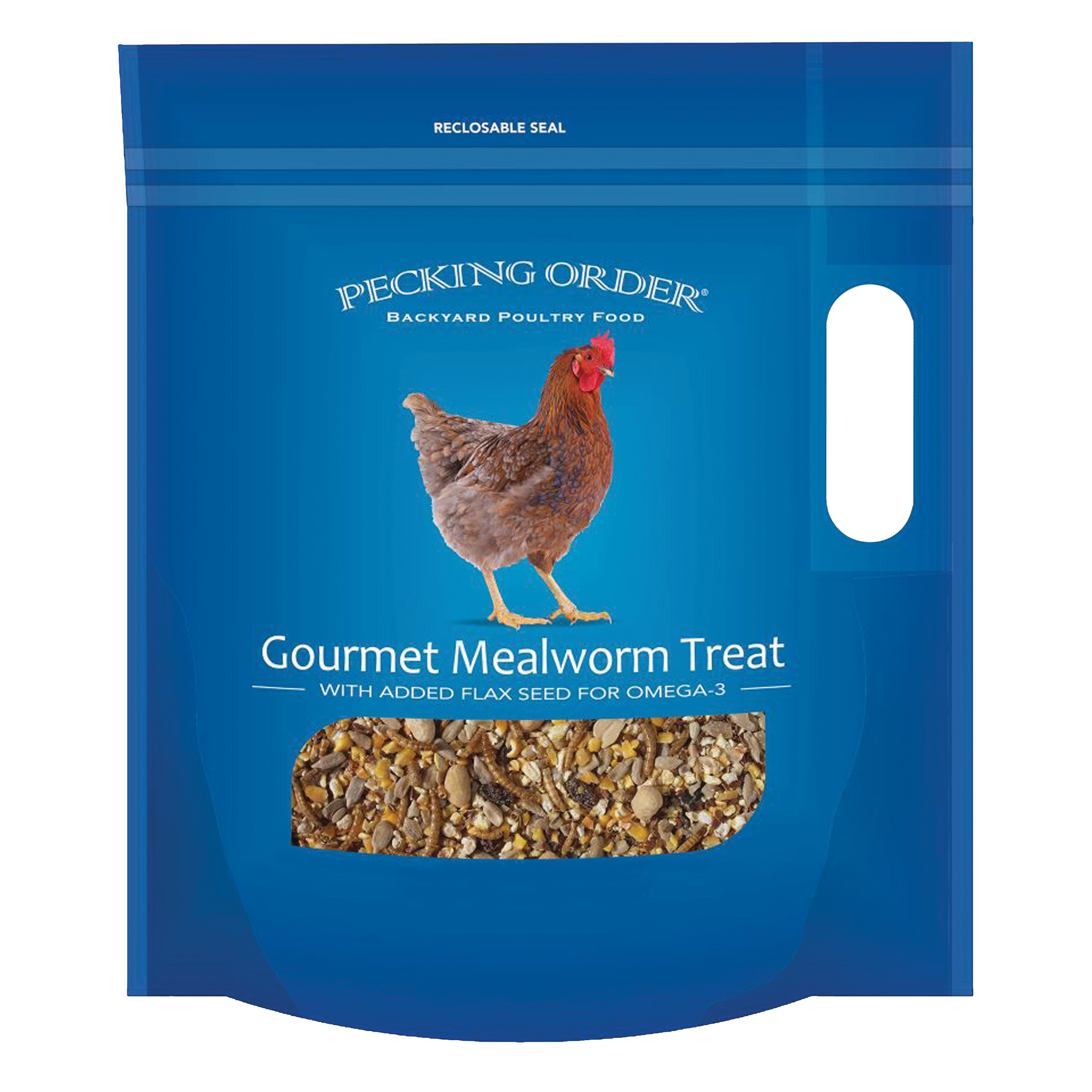 Picture of Pecking Order 009326 Chicken Mealworm Treat, 3 lb Package, Bag