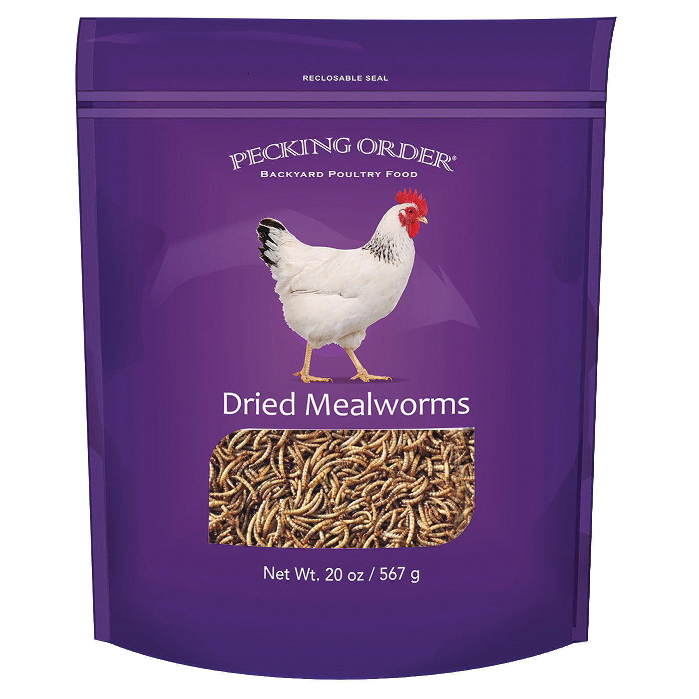 Picture of Pecking Order 009331 Chicken Mealworm Treat, 20 oz Package, Bag