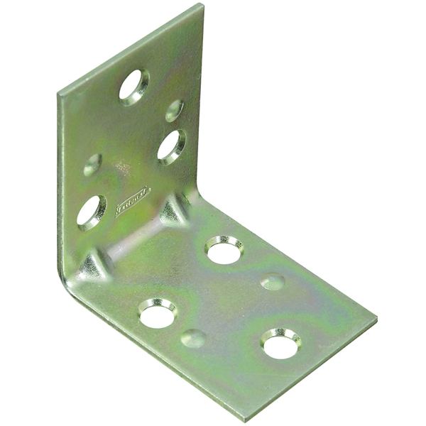 Picture of National Hardware MP121BC Series N285-528 Corner Brace, 2 in L, 1-1/2 in W, 2 in H, Steel, Zinc