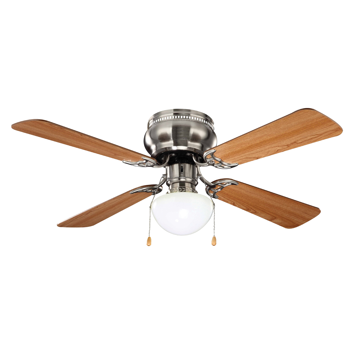 Picture of Boston Harbor 42-742T-MR-EN-BN Ceiling Fan, 0.5 A, 120 V, 4-Blade, 42 in Sweep, 1924 cfm Air