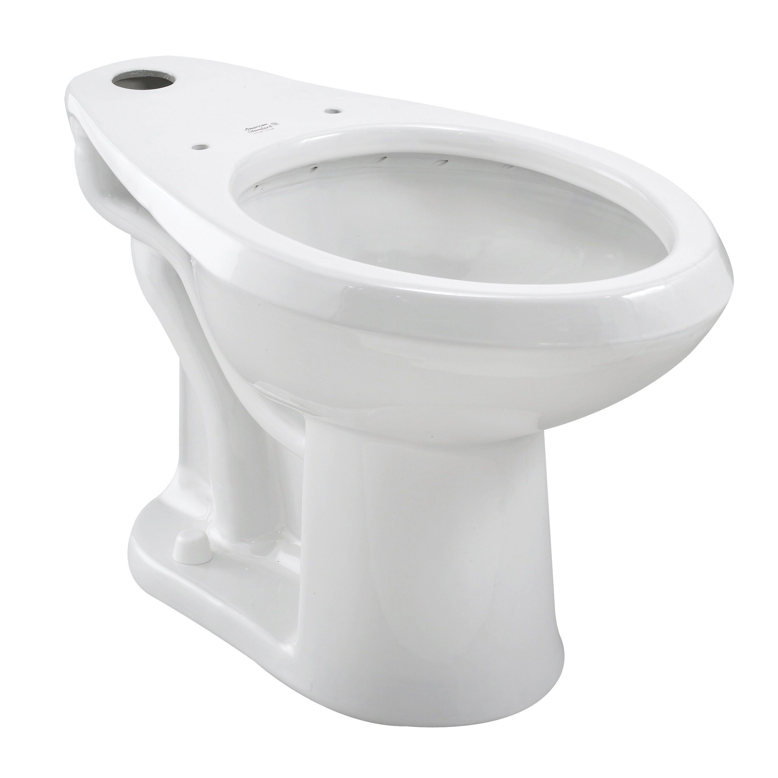 Picture of American Standard Madera 3043.001.020 Toilet Bowl, Elongated, 1.28 gpf Flush, Vitreous China, White, Floor Mounting