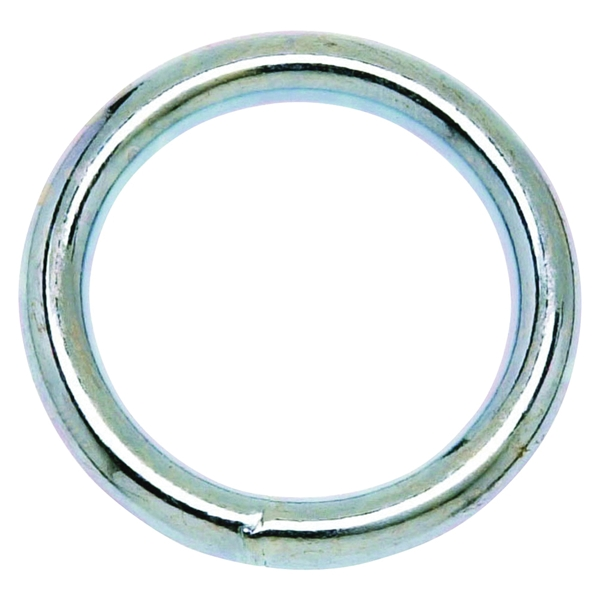 Picture of Campbell T7661152 Welded Ring, 200 lb Working Load, 2 in ID Dia Ring, #3 Chain, Steel, Nickel