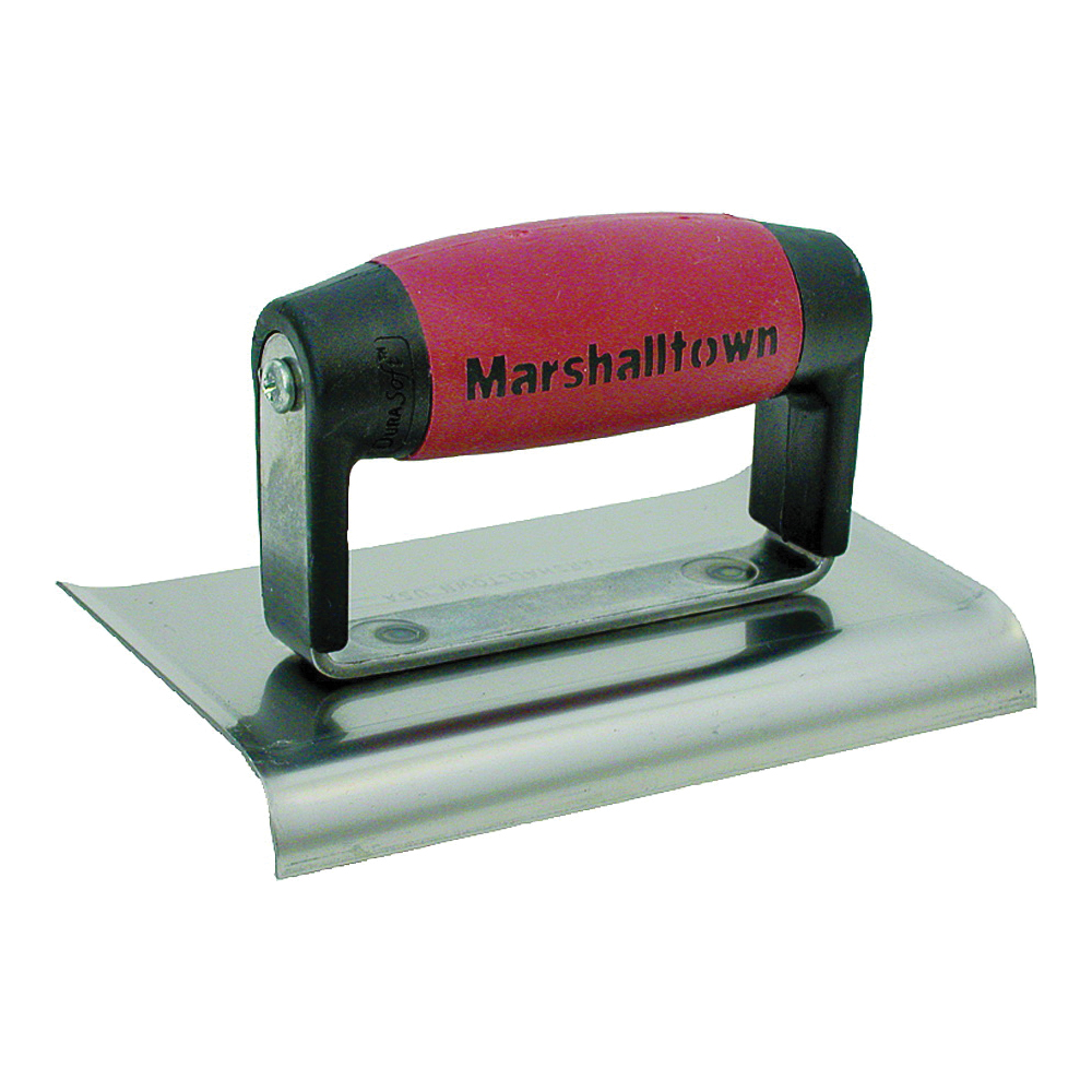 Picture of Marshalltown DuraSoft 156D Hand Edger, 6 in L Blade, 4 in W Blade, HCS Blade, 1/2 in Lip, 3/8 in Lip Radius