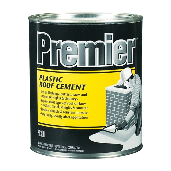 Picture of Henry PR300030 Plastic Roof Cement, Liquid, Paste, Petrol, Black, 1 qt Package, Can