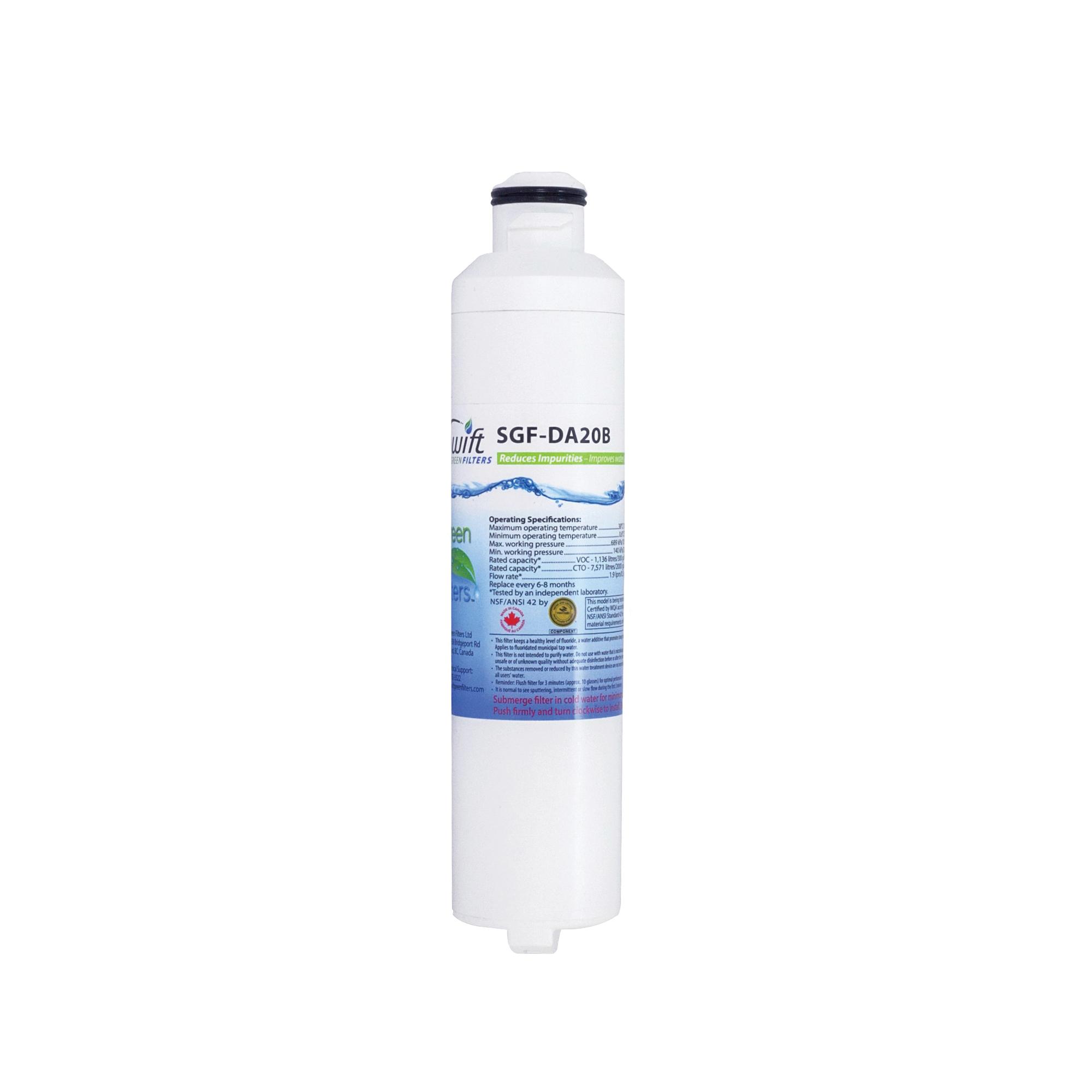 Picture of SWIFT GREEN FILTERS SGF-DA20B Refrigerator Water Filter, 0.5 gpm, 0.5 um Filter