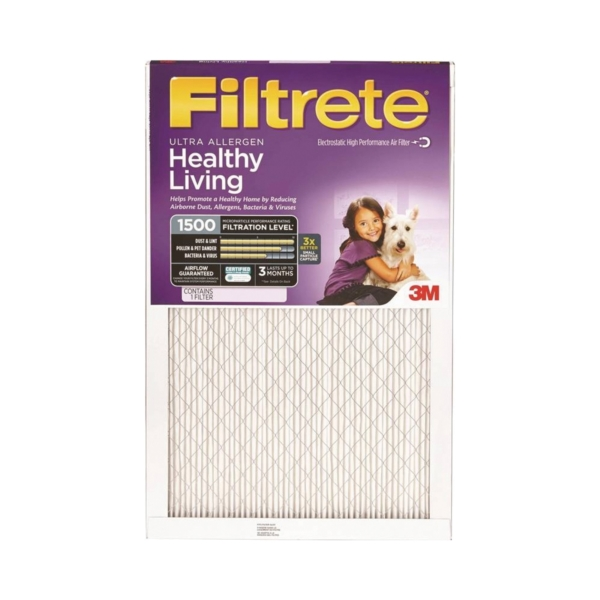 Picture of Filtrete 2019DC-6 Electrostatic Air Filter, 20 in L, 12 in W, 11 MERV, Microfiber Filter Media, Cardboard Frame