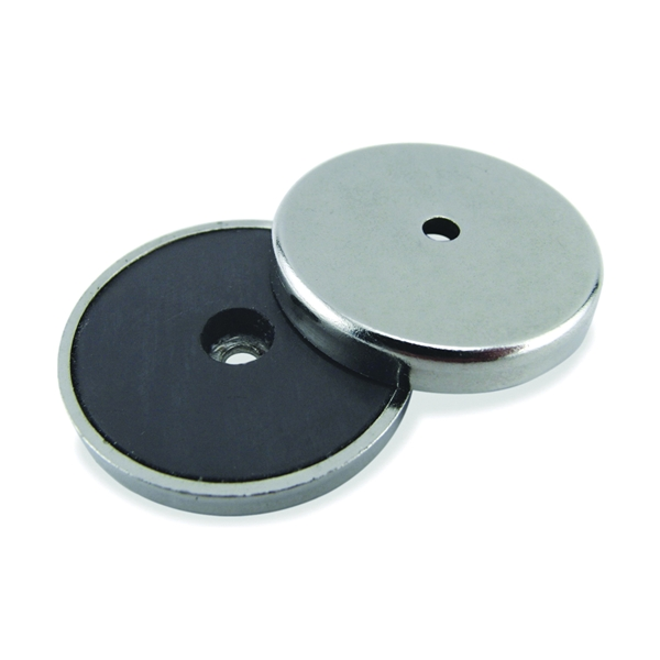 Picture of Magnet Source 07216 Round Base Magnet, Ceramic, 0.375 in ID x 1.42 in OD Dia, 0.283 in H