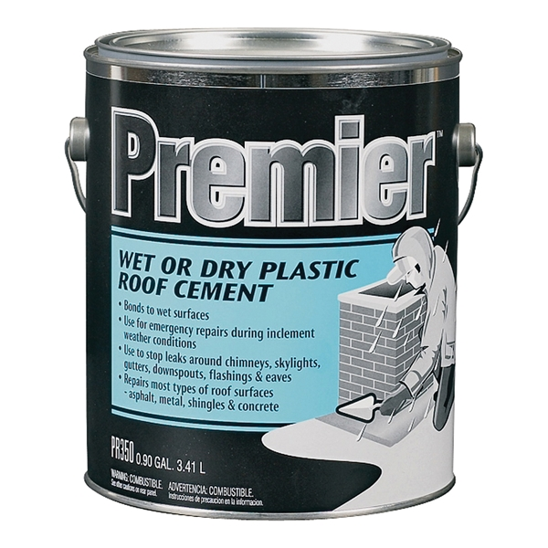 Picture of Henry PR350042 Plastic Roof Cement, Paste, Petrol, Black, 0.9 gal Package, Cartridge