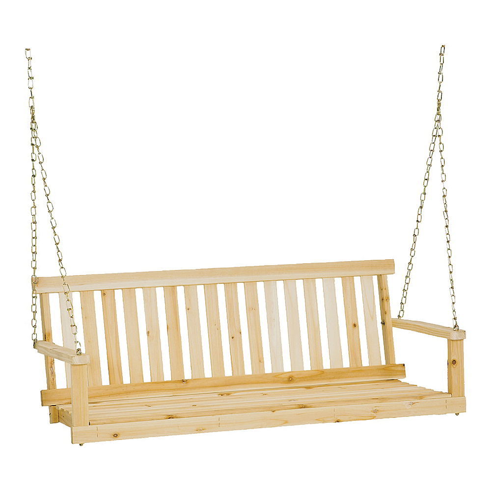 Picture of Jack Post H-24 Porch Swing Seat, 48-3/4 in OAW, 17-3/4 in OAD, 21-1/2 in OAH, Fir Wood Frame, Silver Gray Frame