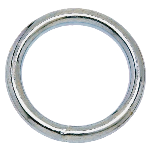 Picture of Campbell T7661154 Welded Ring, 150 lb Working Load, 2 in ID Dia Ring, #7B Chain, Solid Bronze, Polished