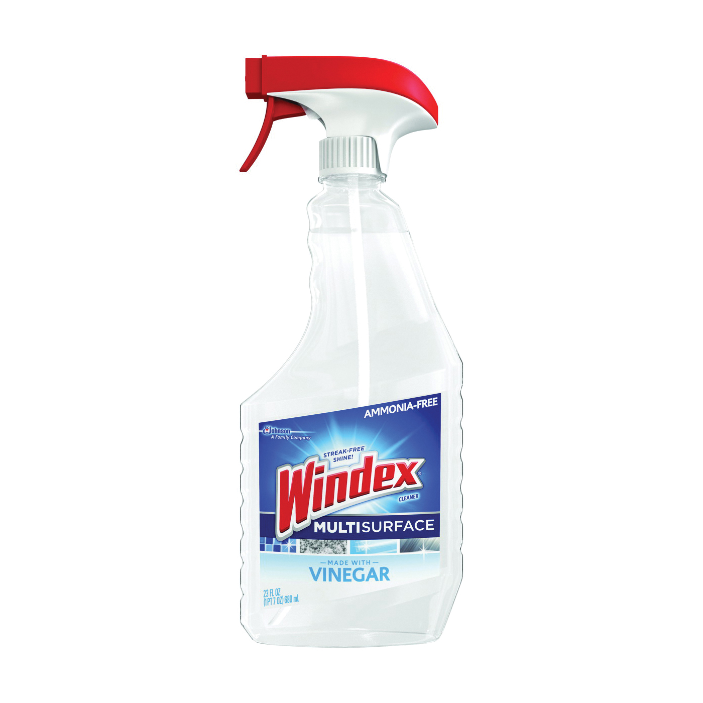 Picture of Windex 70331 Glass Cleaner, 23 oz Package, Bottle, Liquid, Pleasant, Transparent