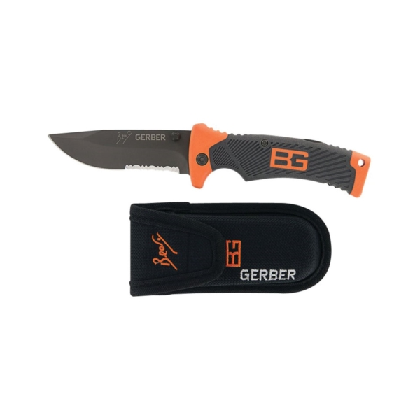 Picture of GERBER 31-000752 Sheath Knife, 3.6 in L Blade, High Carbon Stainless Steel Blade, 1 -Blade, Textured Handle
