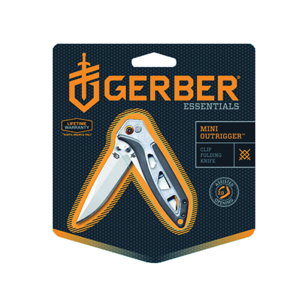 Picture of GERBER 31-001759 Folding Knife, 2-1/2 in L Blade, 7Cr17 Stainless Steel Blade, 1 -Blade, Soft-Grip Handle