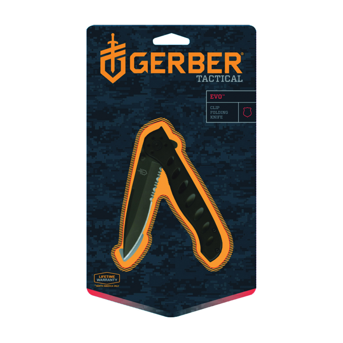 Picture of GERBER 22-41432 Folding Knife, 3.43 in L Blade, High Carbon Stainless Steel Blade, 1 -Blade, Black Handle