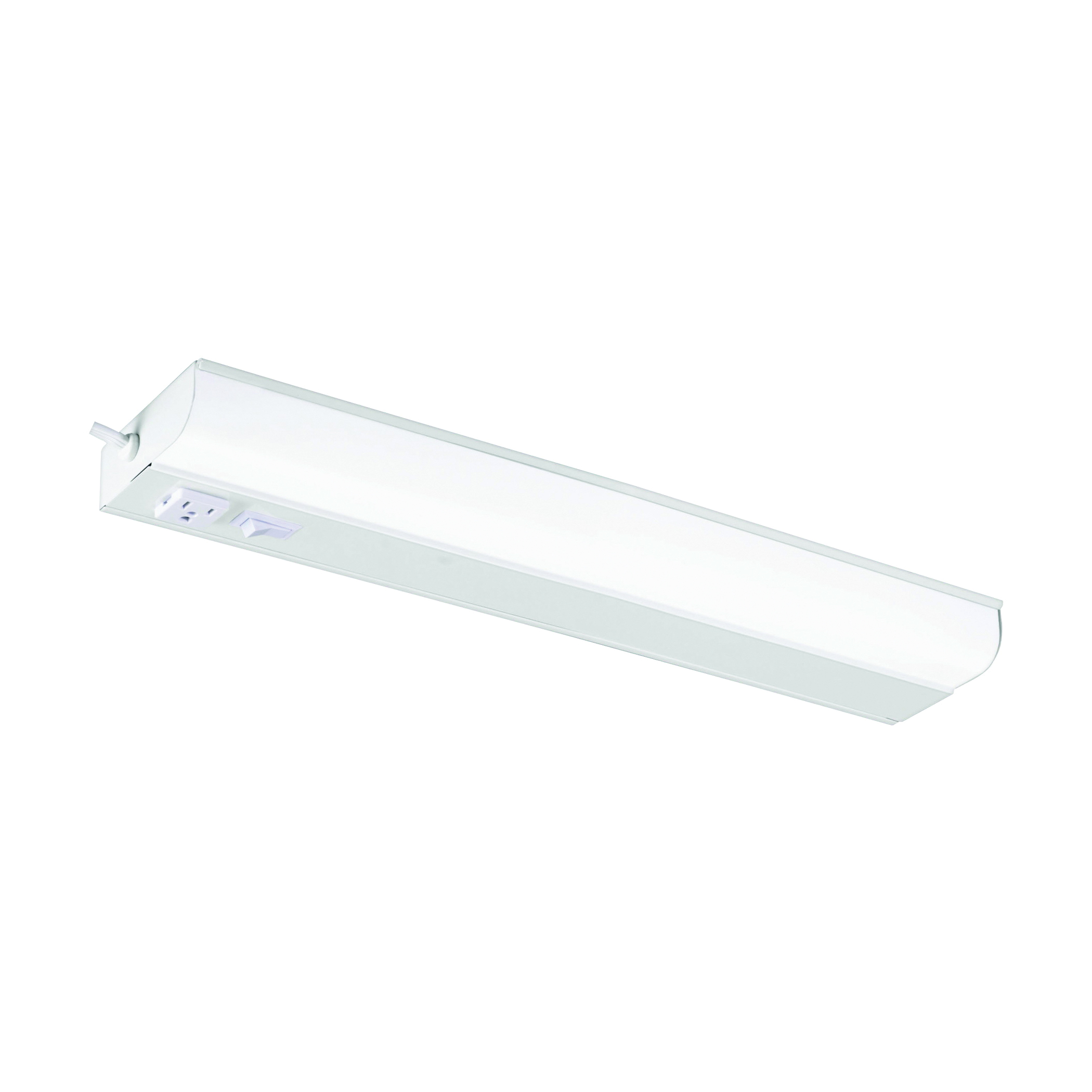 Picture of GOOD EARTH LIGHTING G9318P-T8-WH-I Fluorescent Light, 120 V, 1-Lamp, 3500 K Color Temp, Metal Fixture