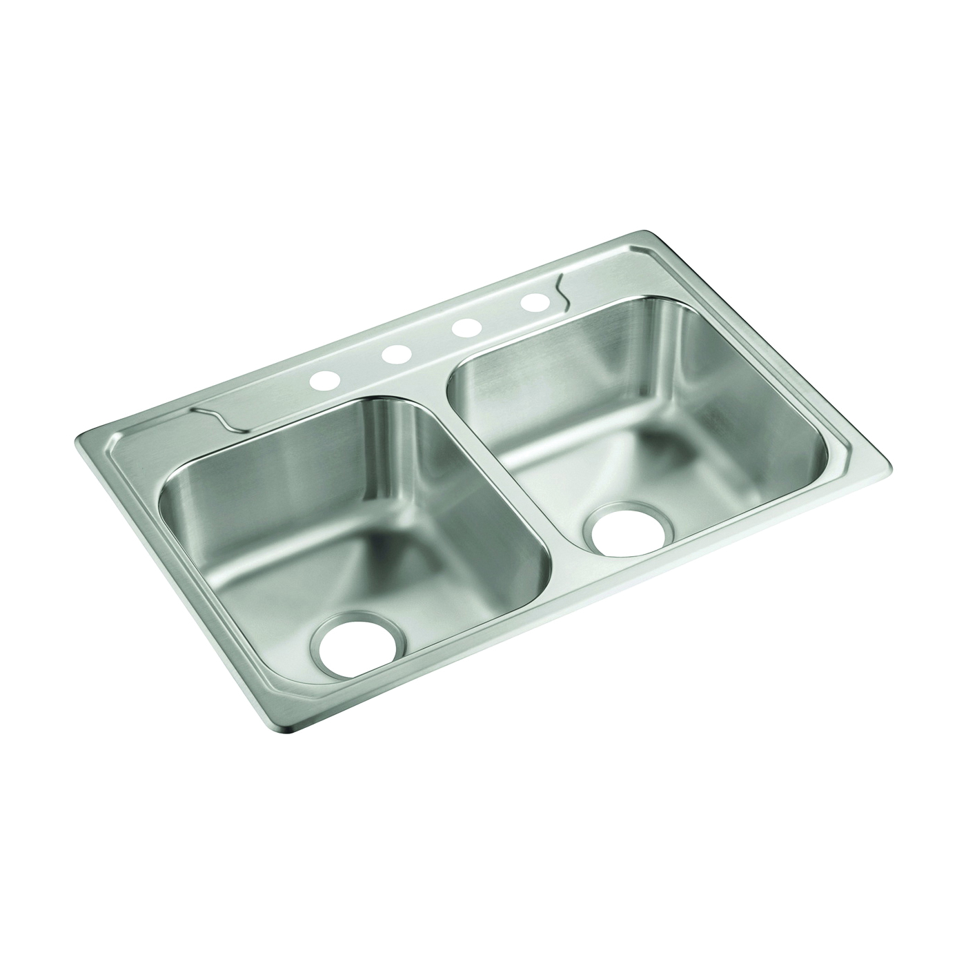 Picture of Sterling Middleton 14708-4-NA Kitchen Sink, 4-Faucet Hole, 22 in OAW, 8 in OAD, 33 in OAH, Stainless Steel